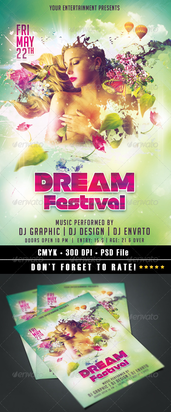 Dream Festival - Events Flyers