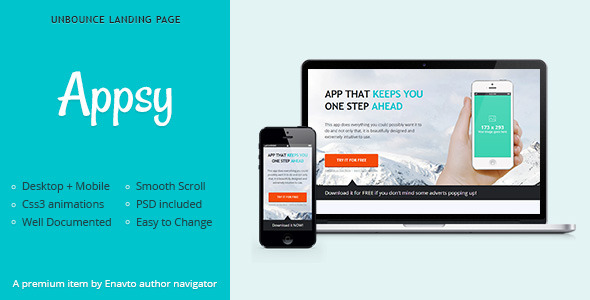 Appsy - Unbounce Landing Page