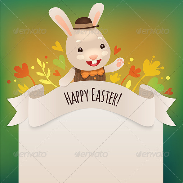 Happy Easter Bunny Greeting Card - Miscellaneous Seasons/Holidays
