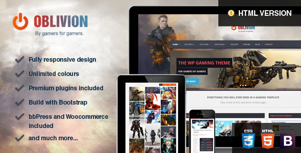 Oblivion – The Multi-Purpose Gaming Template