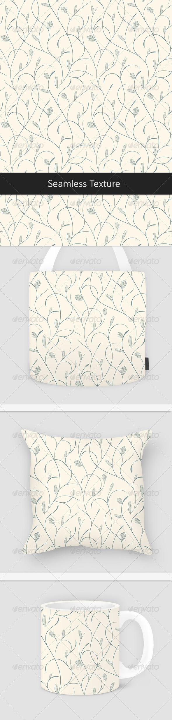 Beige Floral Pattern - Patterns Decorative
