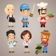 Professions Cartoon Characters Set 1.3 - GraphicRiver Item for Sale
