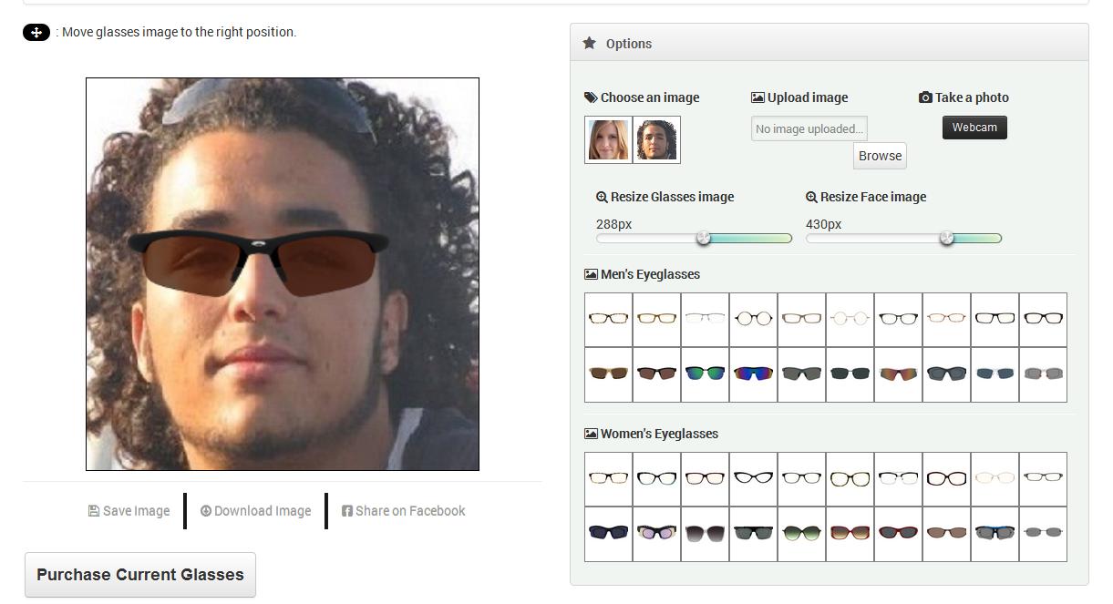 faeef179ad Virtual Eyewear Try-on by Go-Web