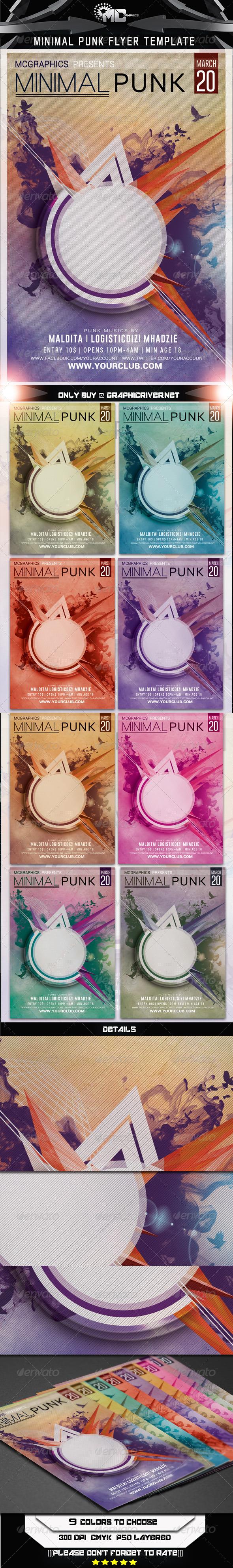 Minimal Punk Flyer Template - Flyers Print Templates