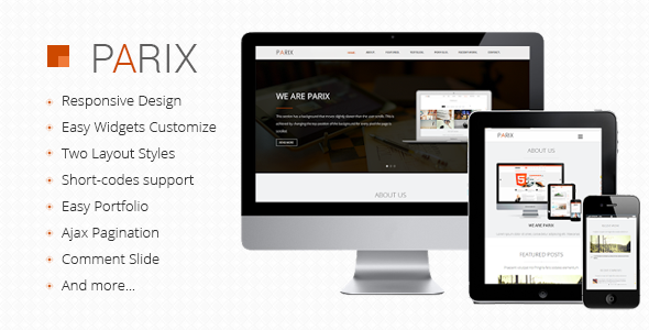 Onepage Blogger Templates Parix - One Page Blogger Template by minhanh | ThemeForest