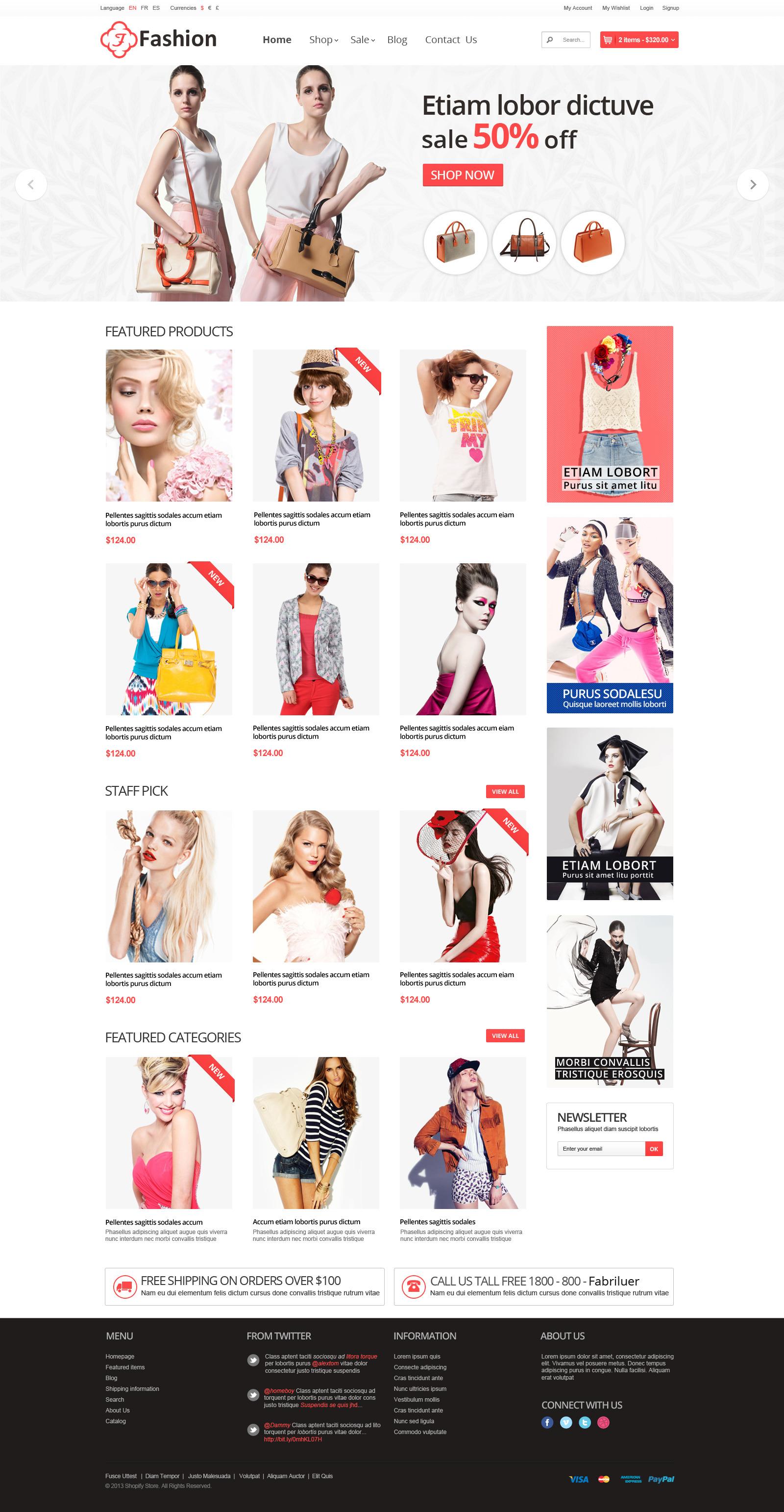 Responsive Shopify Theme - Fashion