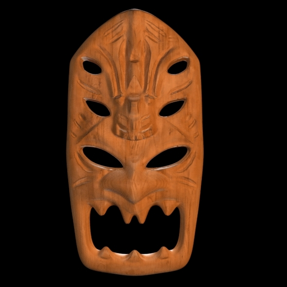 African Mask - 3DOcean Item for Sale