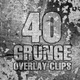 40 Grunge Overlay Clips Pack - VideoHive Item for Sale