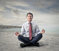 meditating businessman - PhotoDune Item for Sale