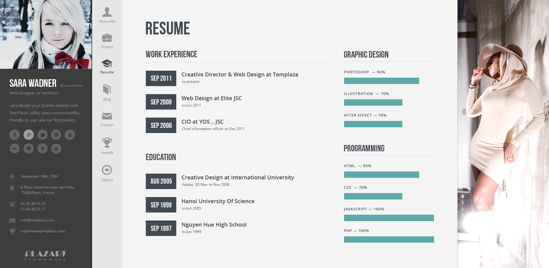 ... 07 Profiler Resume ...  Wordpress Resume Template