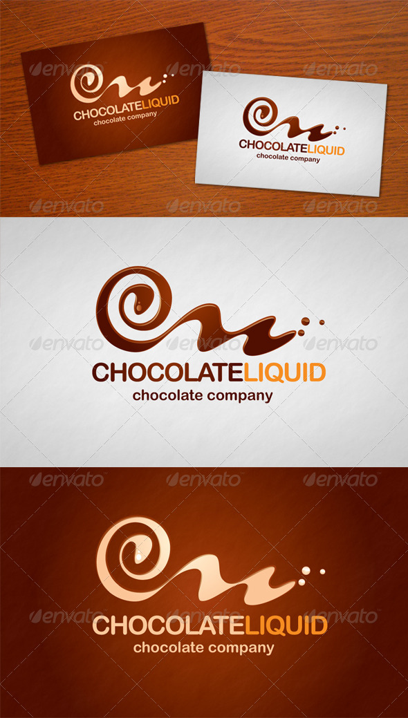 Chocolate Liquid Logo - Food Logo Templates