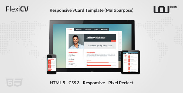 FlexiCV – Responsive vCard Template (Multipurpose)