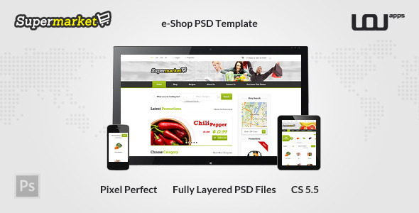 SUPERMARKET – e-Shop PSD Template