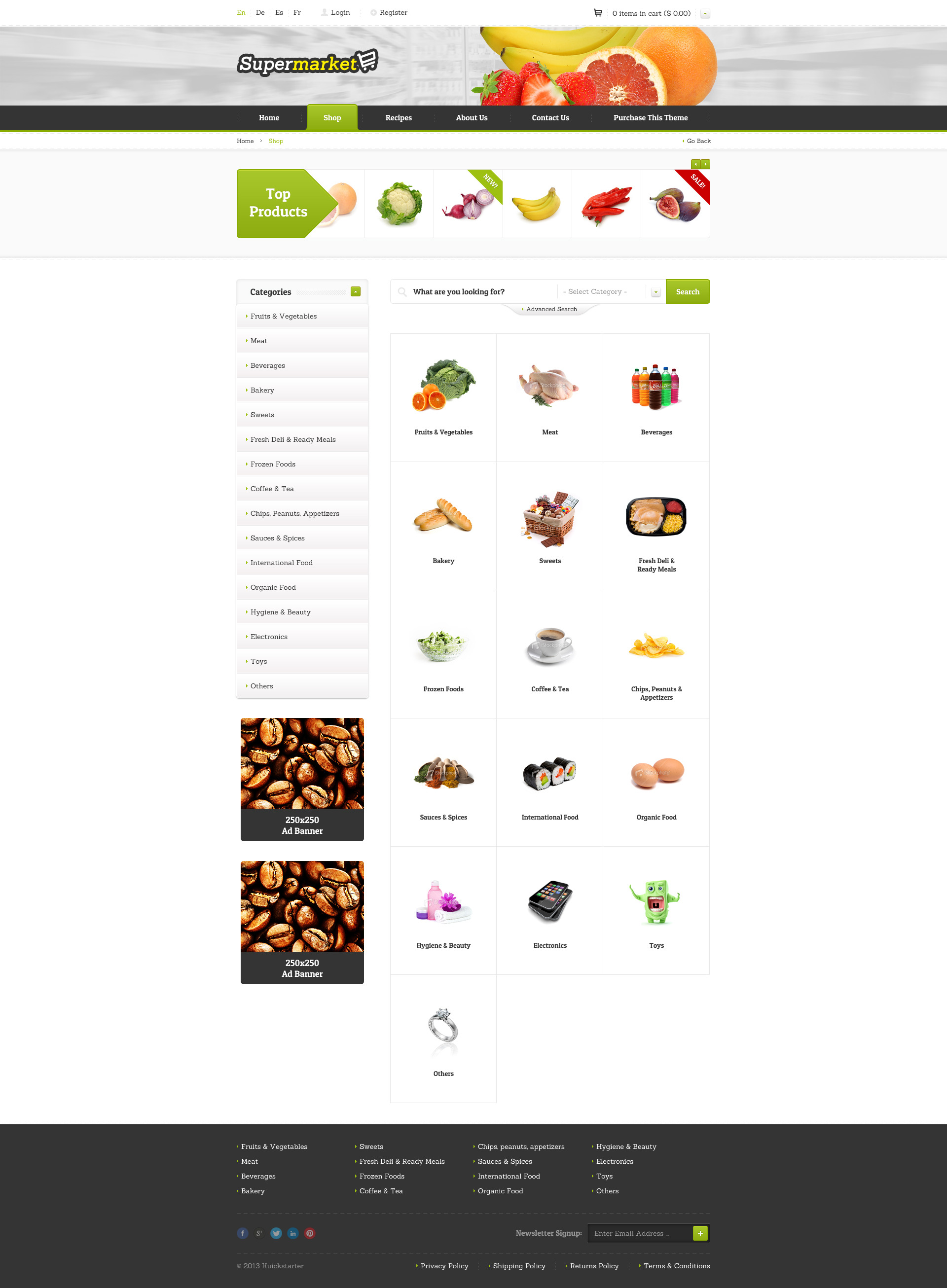 SUPERMARKET - e-Shop PSD Template by uouapps | ThemeForest