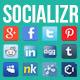 Socializr Social Share Toolbar WordPress Plugin