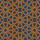 Islamic Star Pattern - Orange - GraphicRiver Item for Sale