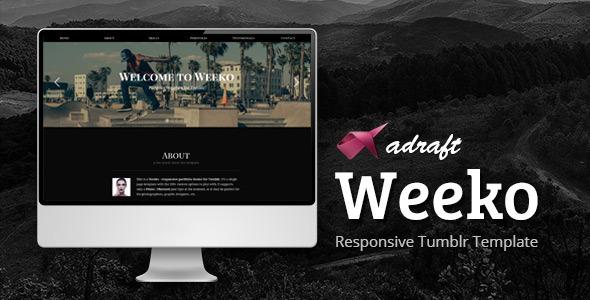 Weeko – Responsive Portfolio Tumblr Theme