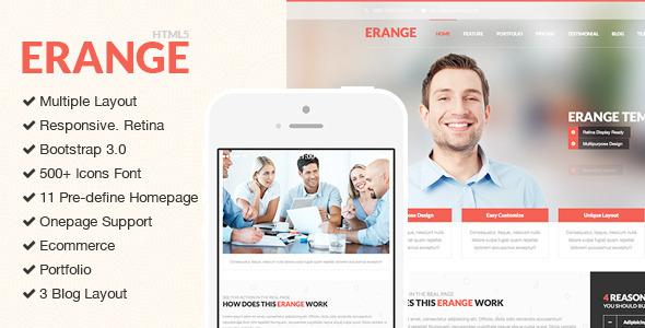 Erange – Responsive Multipurpose HTML5 Template