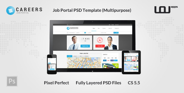 CAREERS – Job Portal PSD Template (Multipurpose)