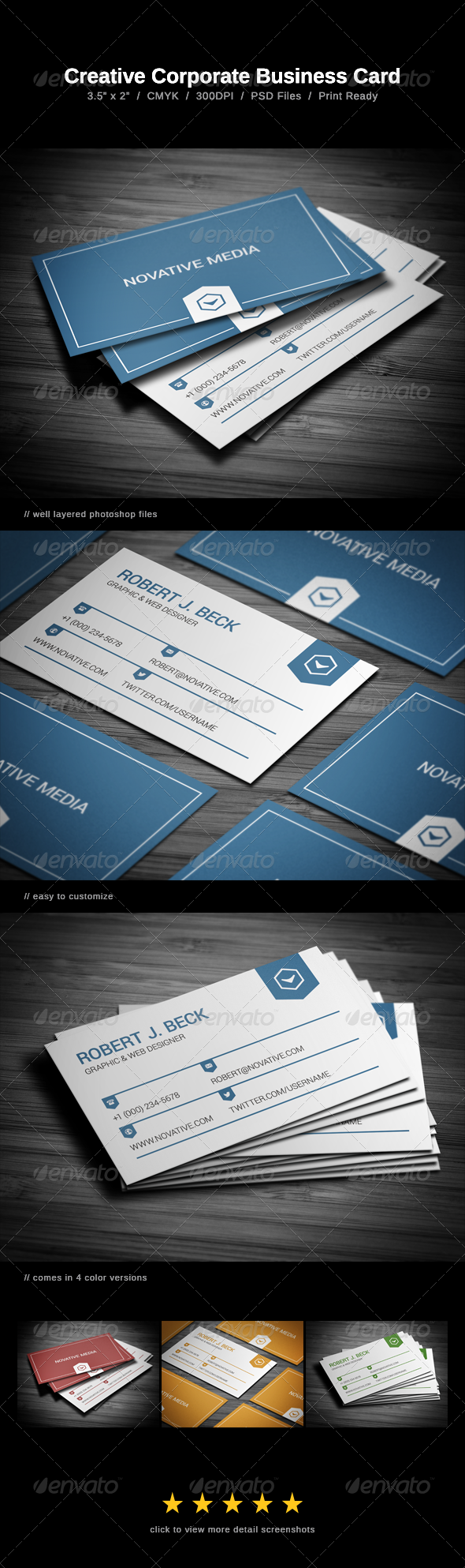 Creative Corporate Business Card - Business Cards Print Templates