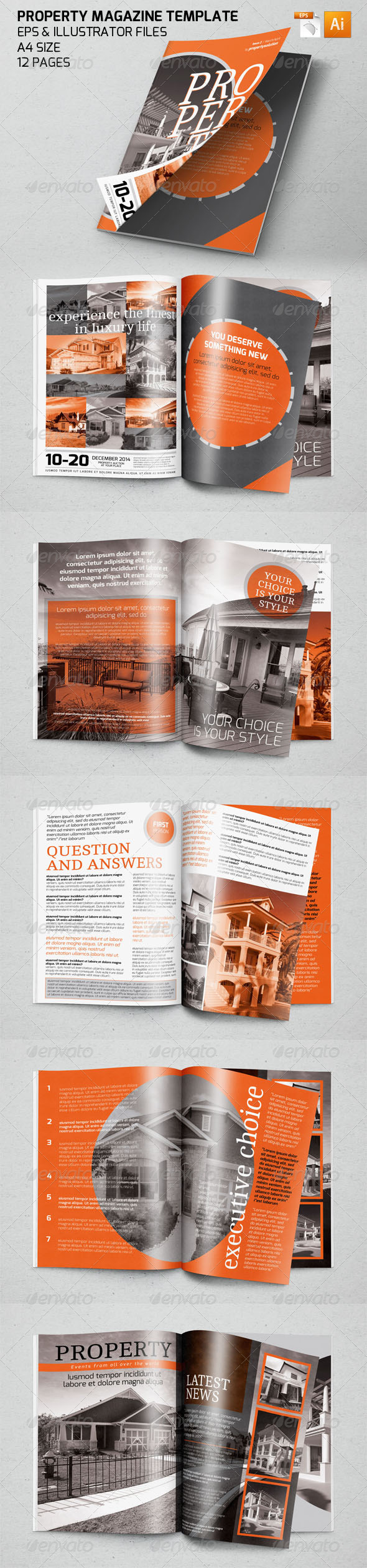 Property Magazine Template by ZONKASH | GraphicRiver