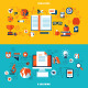 Flat Design Concepts for Education - GraphicRiver Item for Sale
