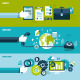 Set of Flat Design Concepts for Business - GraphicRiver Item for Sale