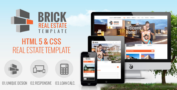 Brick - Responsive Real Estate Site Template
