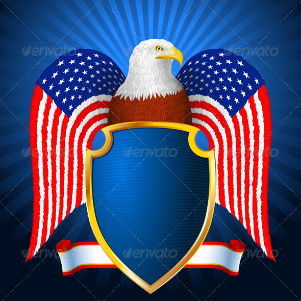 American Eagle Flag Wing Shield