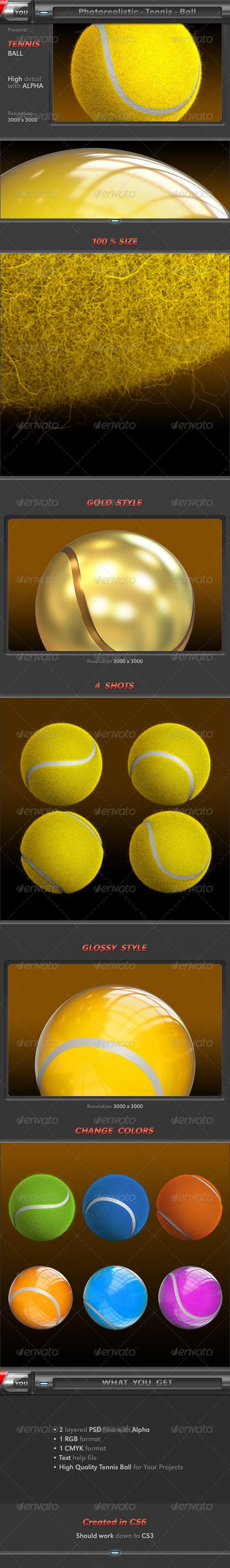 Tennis Ball - Objects 3D Renders