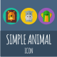 Simple Animal Icons - GraphicRiver Item for Sale