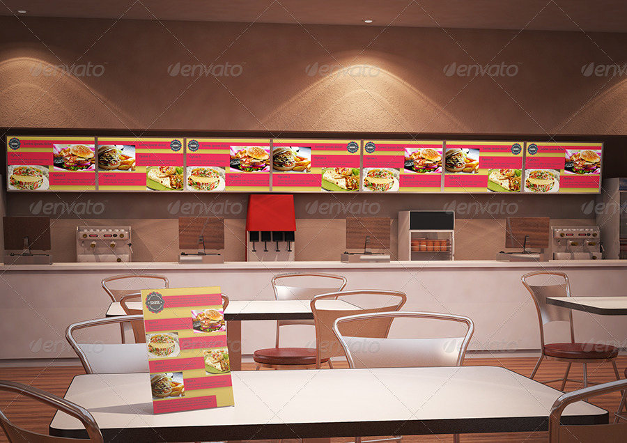 Fast food building branding mockup by kimarotta graphicriver