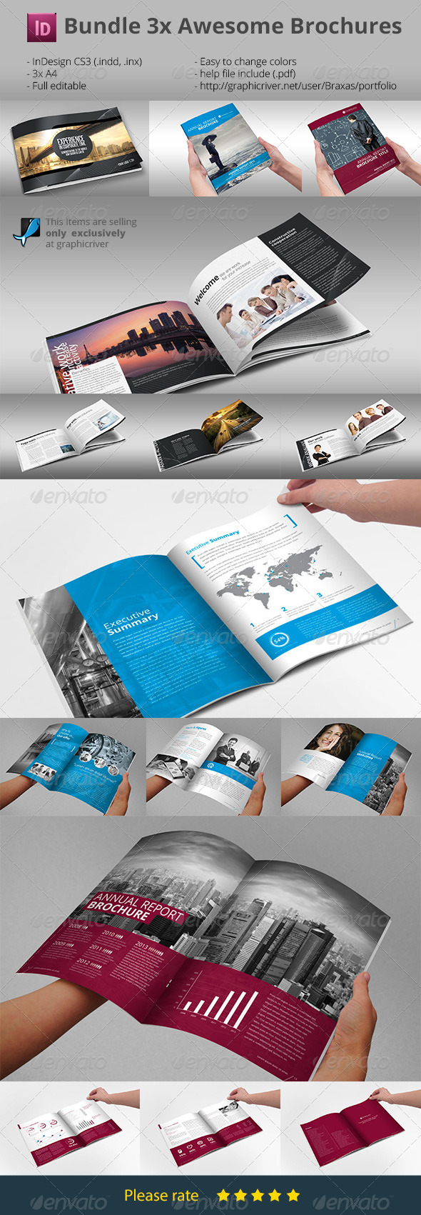 Bundle Brochures Template Indesign X By Braxas GraphicRiver - Brochure template indesign