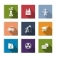 Set of Flat Industrial Icons - GraphicRiver Item for Sale