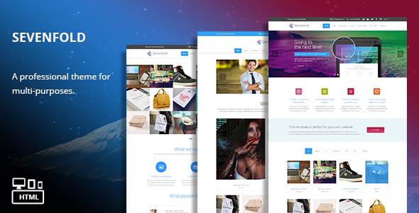 Sevenfold – Responsive Multi-Purpose HTML Theme