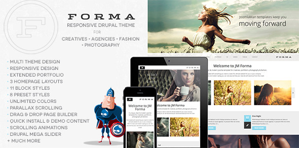 Image of Forma, Creative, Fashion, Photogrpahy Drupal Theme