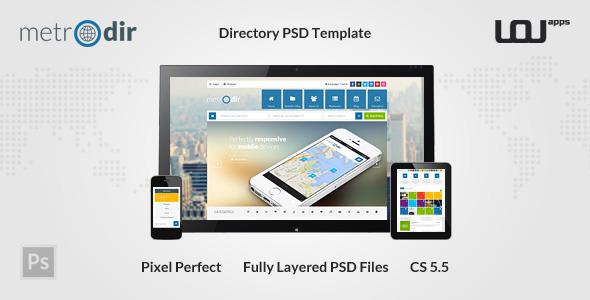 METRODIR -  Directory PSD Template  - Miscellaneous PSD Templates