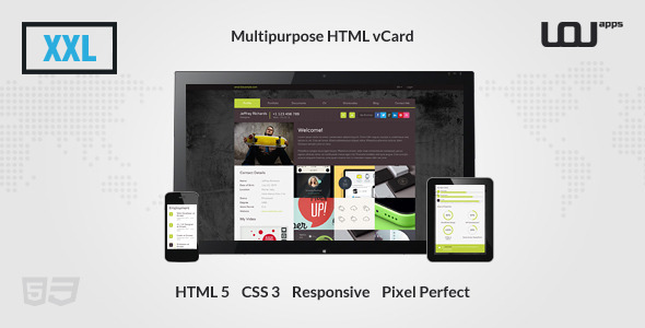 XXL - Multipurpose HTML vCard - Virtual Business Card Personal