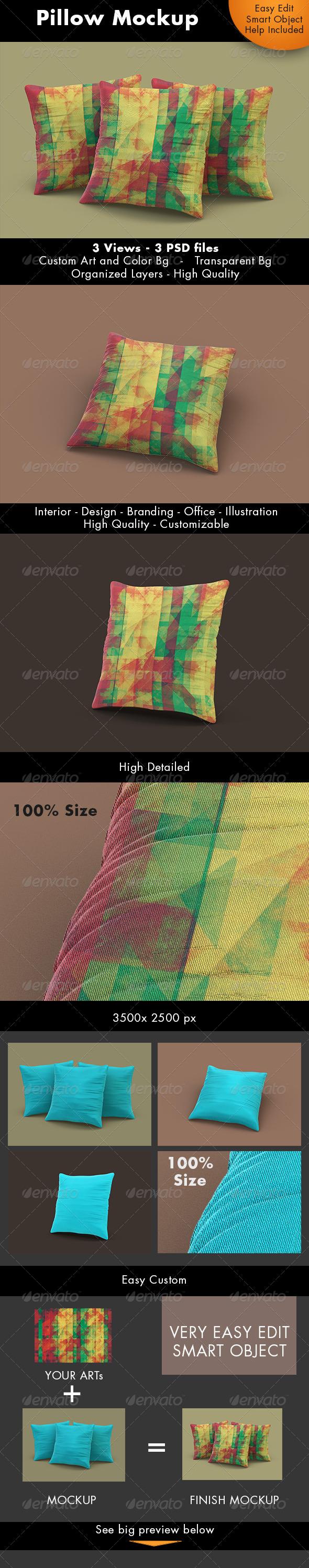 Pillow Mockup - Miscellaneous Product Mock-Ups