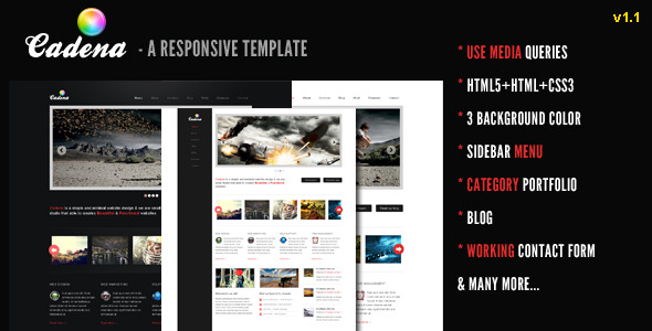 Free Download Cadena - A Responsive Creative Template Nulled Latest Version