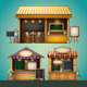 Market Stall Illustration - GraphicRiver Item for Sale