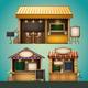 Market Stall Illustration - GraphicRiver Item for Sale
