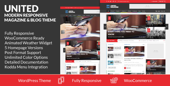 United - Modern Responsive Magazine & Blog Theme