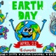 2D Cartoon Planet Earth For Earth Day (15 Elements) - VideoHive Item for Sale