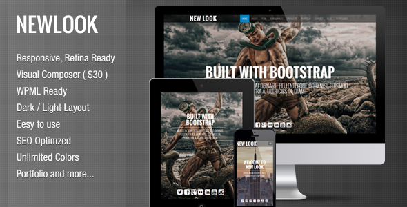 New Look – Onepage Responsive WordPress Theme