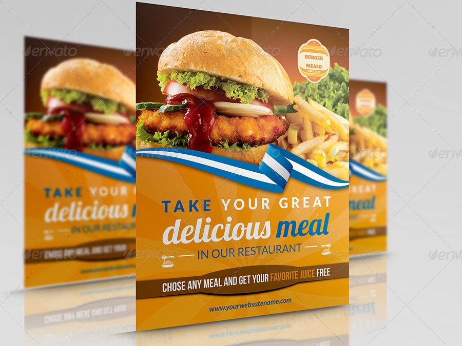 restaurant flyers template