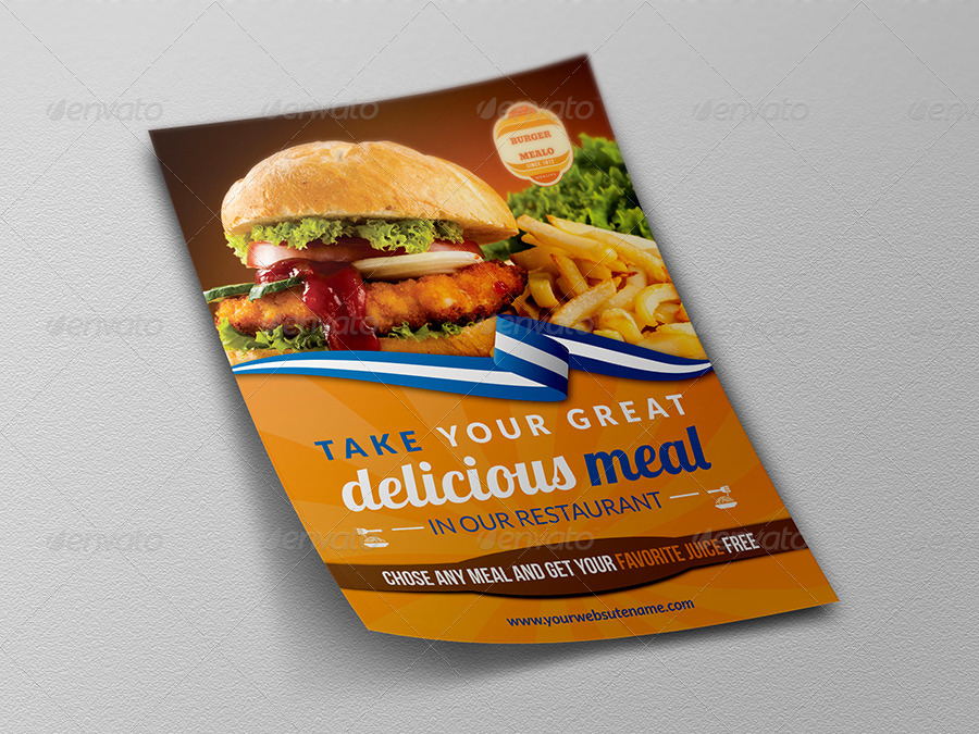 Burger Restaurant Flyer Template By Owpictures Graphicriver
