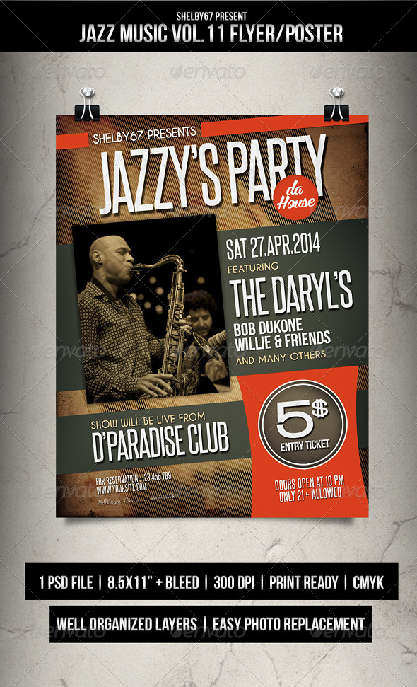 jazz music flyer    poster vol 11 by shelby67