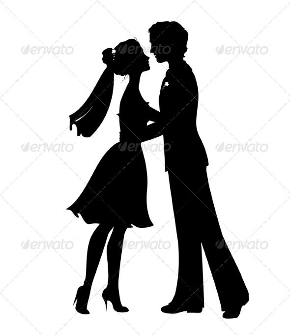 Silhouettes Of Bride And Groom By Olga_Lebedeva