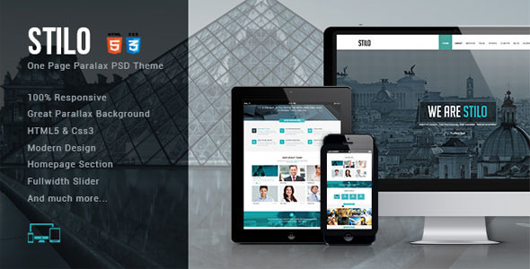 Stilo – One Page HTML5 Template